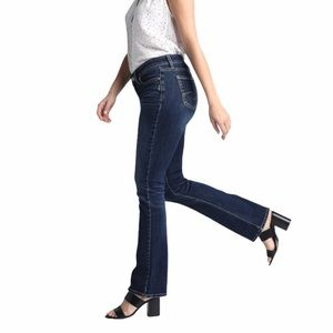 Silver Jeans Elyse Slim Boot Cut High Rise Blue 34